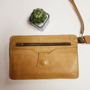 Handbags - Tan Leather Wristlet
